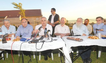 Yuval Steinitz in Beit El meeting on Ulpana