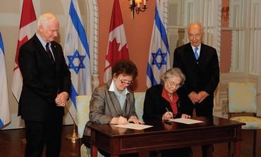 Israel, Canada memorandum of understanding