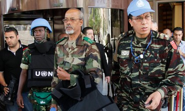 UN Observers leaving (illustrative