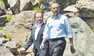 FRENCH PRESIDENT François Hollande and Obama