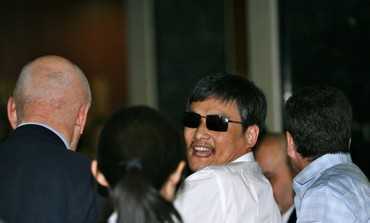 Chen Guangcheng after arrival in US airport