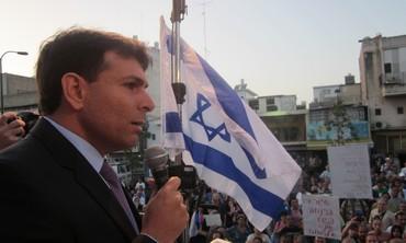 Danny Danon speaks at anti-infiltrator rally