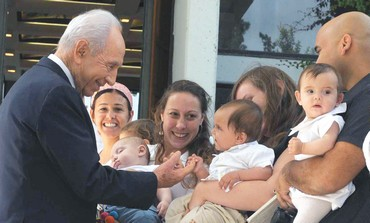 President Peres at Megilot Regional Council