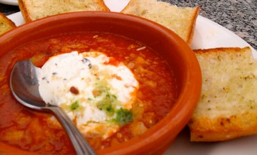 Baked Feta Cheese in Spicy Tomato Sauce