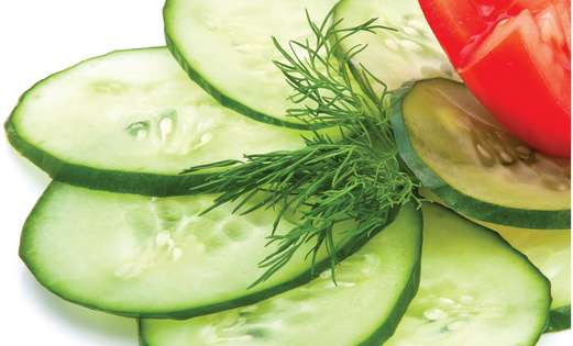 purslane, cucumber tomato 521
