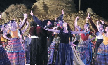 THE CAST of 'Carmen' performs at Masada.
