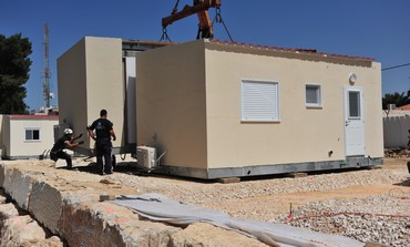 Mobile homes at Binyamin Regional Brigade ba