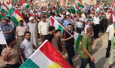 Kurdish nationalists rally north of Baghdad, Iraq