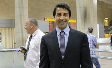 Mosab Hasan Youssef at Ben Gurion Airport