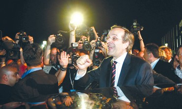 ANTONIS SAMARAS, leader of the Greek New Democracy