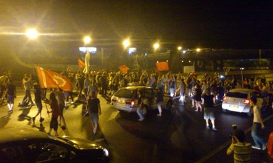 Social protesters block Ayalon Freeway