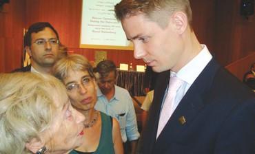 Toby Willig confronts Michael Vernstedt