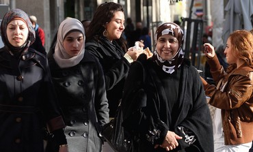 Palestinian women walking in J'lems Old City