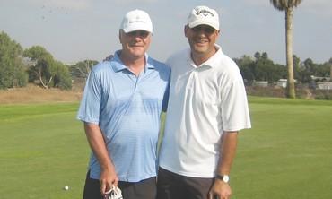 IKE PETERS,Amiram Zantkern at the Ga'ash Golf Club