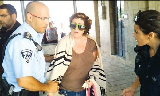 Deborah Houben detained at Western Wall