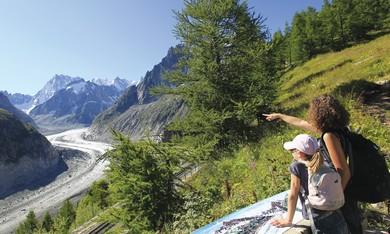 Mer de glace glacier on Mont Blanc