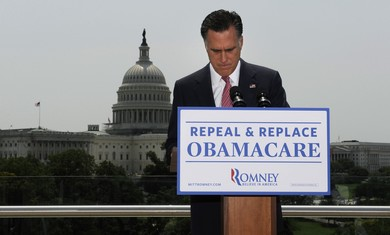 Mitt Romney reacts to Health Ruling.