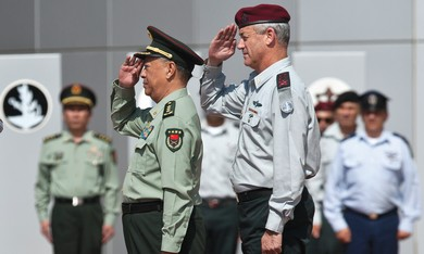 IDF Chief of Staff with his Chinese counterpart.