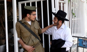 Haredi, soldier at IDF recruitment office
