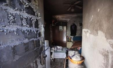 Suspected arson at Eritrean's apartment.