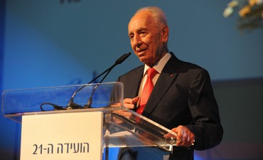 President Shimon Peres speak at Histadrut conventi
