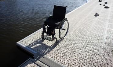 A wheelchair at Tel Aviv's Yarkon River