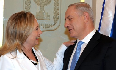 Clinton and Netanyahu meet in Israel.