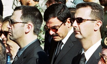 Syrian President Assad's brother Maher (L)