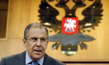 Russian Foreign Minister Sergei Lavrov in Moscow