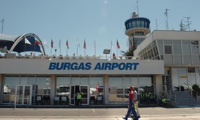 The Burgas Airport in Bulgaria.