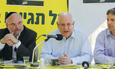 Rivlin meets moderate haredim, Camp Sucker leaders