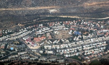 Aerial view of Ariel settlement in West Bank