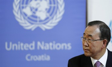 UN Secretary-General Ban Ki-moon in Croatia