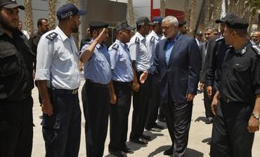 Hamas PM Haniyeh at Rafah before entering Egypt