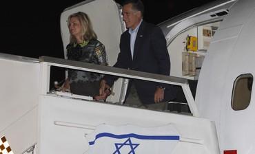 Mitt and Ann Romney arrive at Ben Gurion Airport