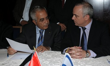 Finance Minister Steinitz and PA PM Fayyad