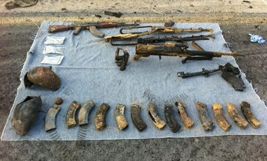 Weapons from Sinai attack.