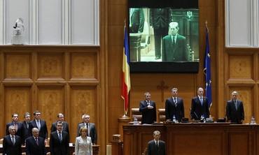 Former King Michael addresses parliament