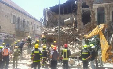 Building collapses in Jerusalem neighborhood Geula