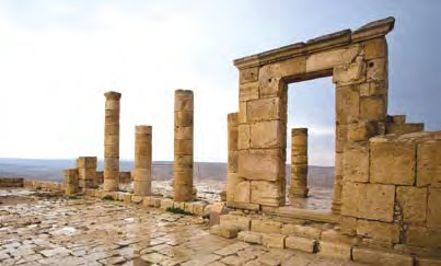 Ruins of the Nabatean city of Avdat (Courtesy)