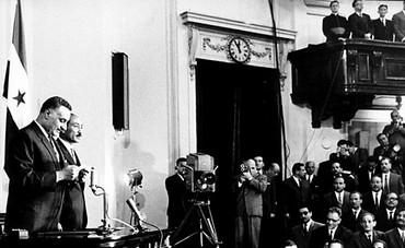 Egypt's Gamal Abdel Nasser takes presidential oath