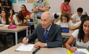 President Shimon Peres in school