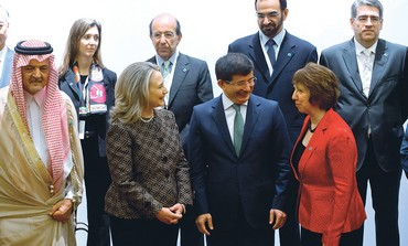 Davutoglu, Clinton and Ashton