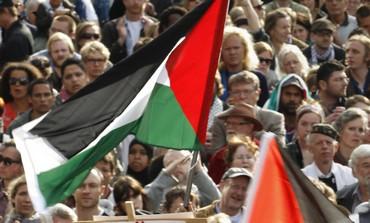 Pro-Palestinian demonstrators in Stockholm