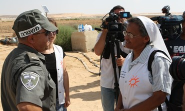 PHR volunteers and officers near Egypt border