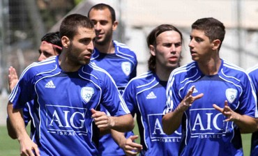 Israeli national soccer team training