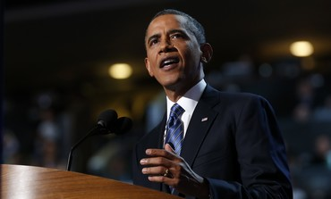 US President Barack Obama at Democratic Convention