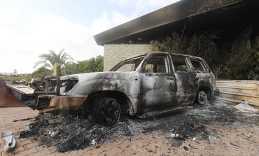Scene of attack on US consulate in Libya