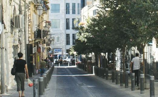 The corner of Jaffa Road and Hahavatzelet Street