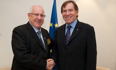 Rivlin with Jean-Claude Mignon in Strasbourg
